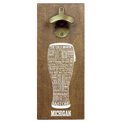 Torched Products Bottle Opener Default Title Michigan Craft Beer Typography Cap Catching Magnetic Bottle Opener