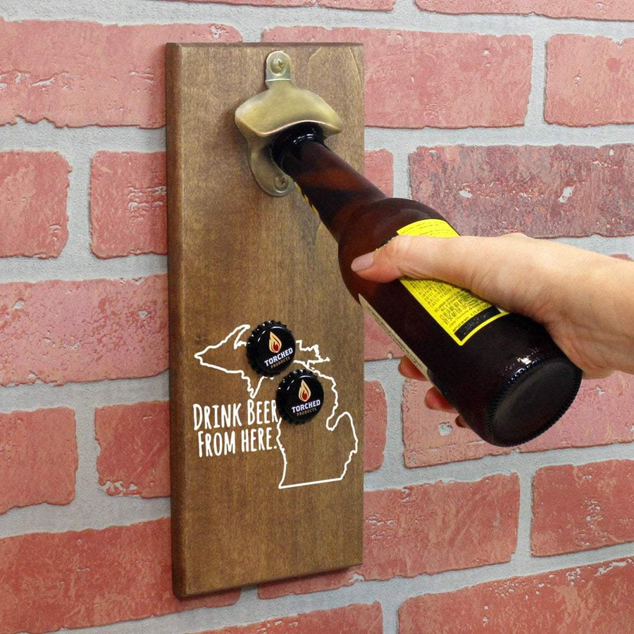 Torched Products Bottle Opener Default Title Michigan Drink Beer From Here Cap Catching Magnetic Bottle Opener (781490258037)