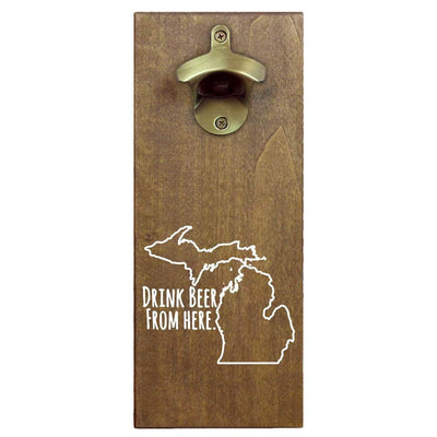 Torched Products Bottle Opener Default Title Michigan Drink Beer From Here Cap Catching Magnetic Bottle Opener