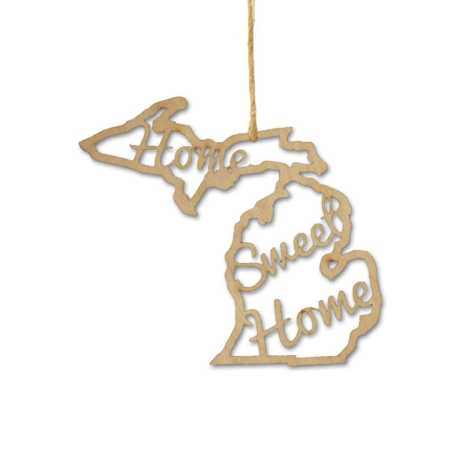 Torched Products Ornaments Michigan Home Sweet Home Ornaments