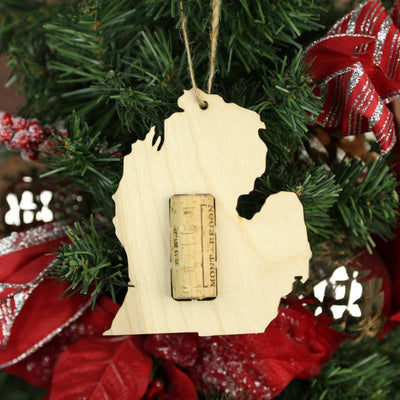 Torched Products Wine Cork Holder Michigan Wine Cork Holder Ornaments