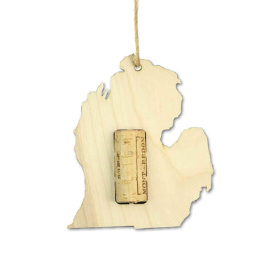 Torched Products Wine Cork Holder Michigan Wine Cork Holder Ornaments (781201244277)