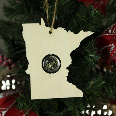 Torched Products Beer Cap Maps Minnesota Beer Cap Map Ornaments