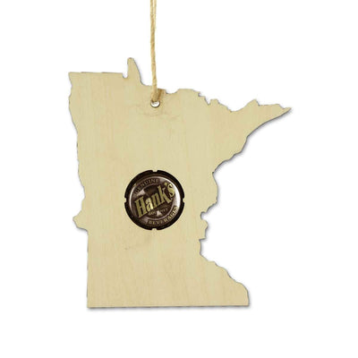 Torched Products Ornaments Minnesota Beer Cap Map Ornaments