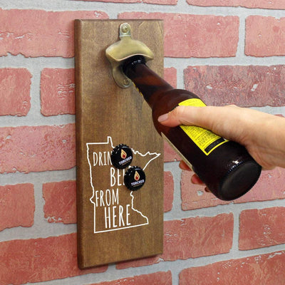 Torched Products Bottle Opener Default Title Minnesota Drink Beer From Here Cap Catching Magnetic Bottle Opener (781490716789)