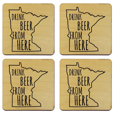 Torched Products Coasters Minnesota Drink Beer From Here Coasters (781451624565)