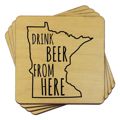 Torched Products Coasters Minnesota Drink Beer From Here Coasters