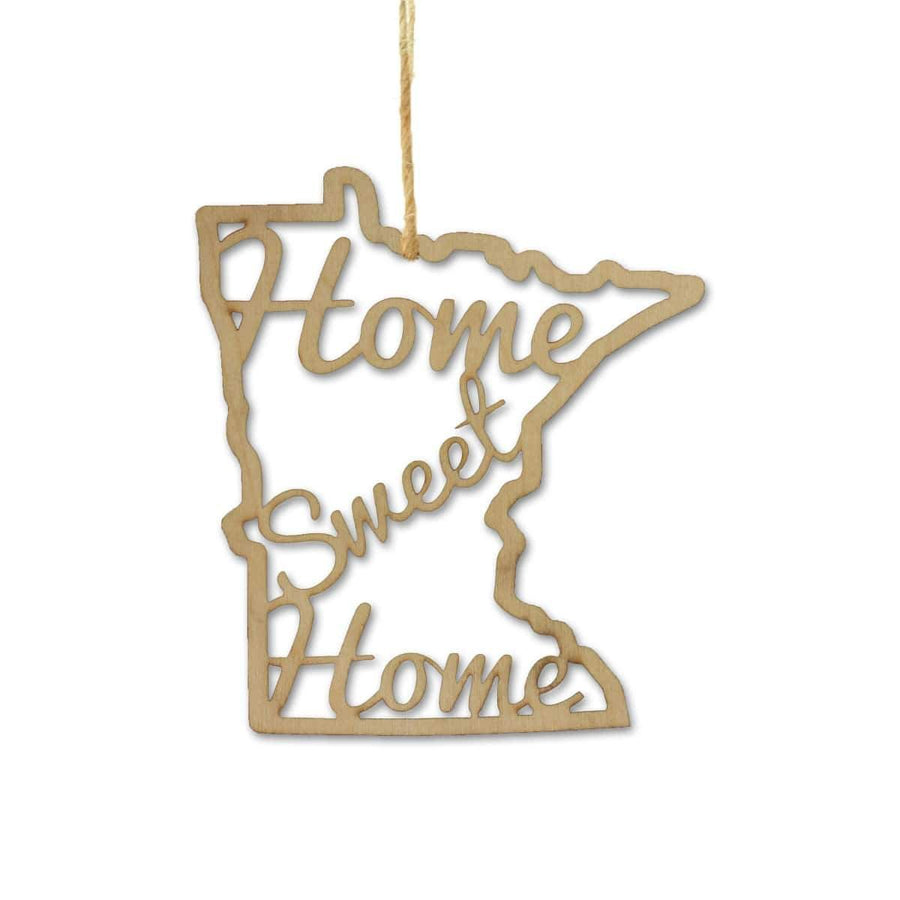 Torched Products Ornaments Minnesota Home Sweet Home Ornaments