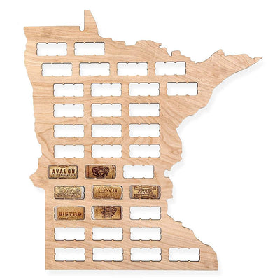 Torched Products Wine Cork Map Minnesota Wine Cork Map