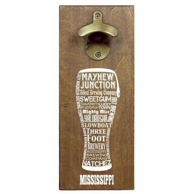 Torched Products Bottle Opener Default Title Mississippi Craft Beer Typography Cap Catching Magnetic Bottle Opener