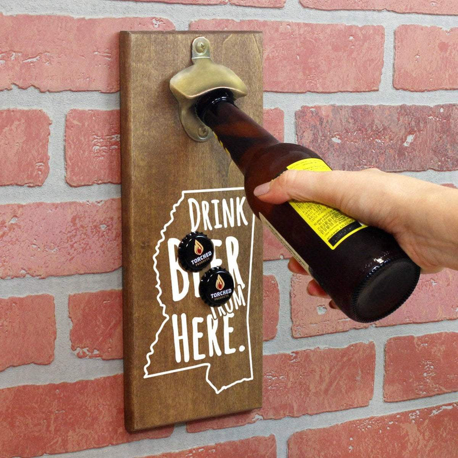 Torched Products Bottle Opener Default Title Mississippi Drink Beer From Here Cap Catching Magnetic Bottle Opener (781490946165)