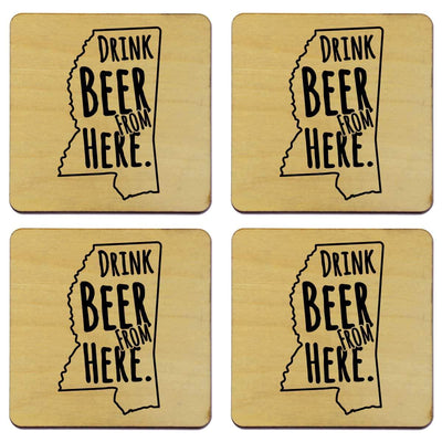 Torched Products Coasters Mississippi Drink Beer From Here Coasters