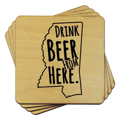 Torched Products Coasters Mississippi Drink Beer From Here Coasters (781452116085)