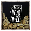 Torched Products Shadow Box Gray Mississippi Drink Wine From Here Wine Cork Shadow Box (795746500725)