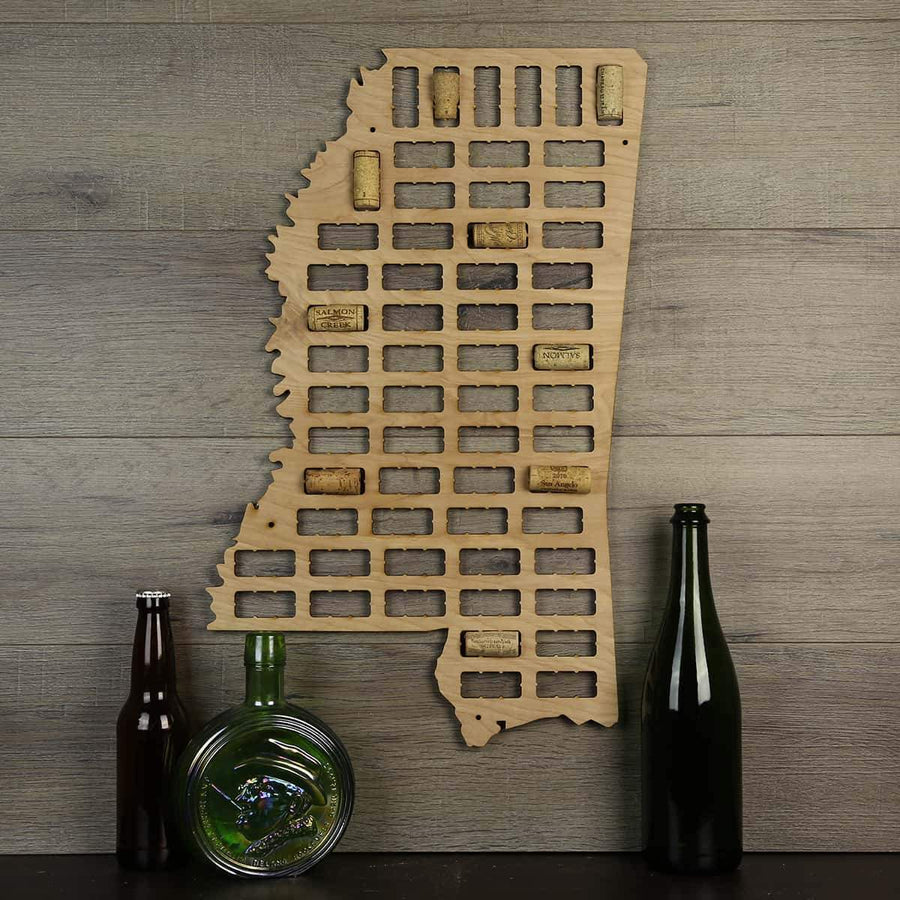 Torched Products Wine Cork Map Mississippi Wine Cork Map (778975117429)