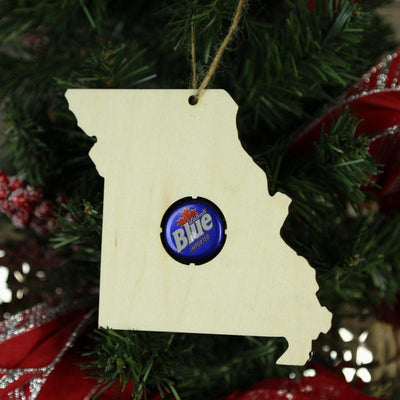 Torched Products Beer Cap Maps Missouri Beer Cap Map Ornaments