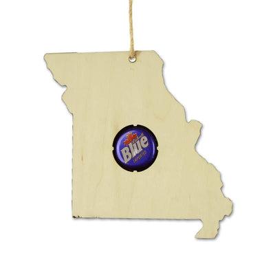 Torched Products Ornaments Missouri Beer Cap Map Ornaments