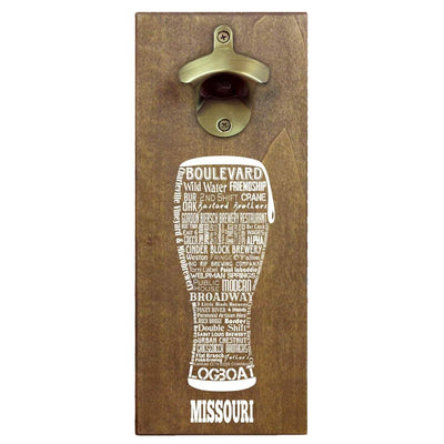 Torched Products Bottle Opener Default Title Missouri Craft Beer Typography Cap Catching Magnetic Bottle Opener (789179334773)