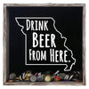 Torched Products Shadow Box Gray Missouri Drink Beer From Here Beer Cap Shadow Box (781177094261)
