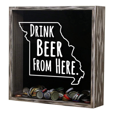 Torched Products Shadow Box Missouri Drink Beer From Here Beer Cap Shadow Box