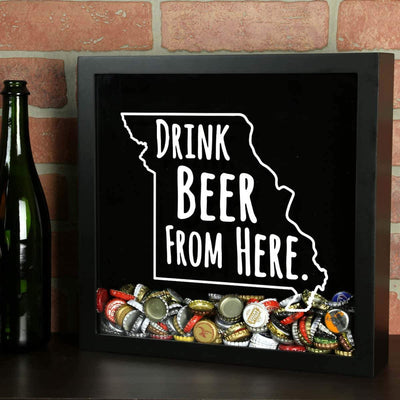 Torched Products Shadow Box Missouri Drink Beer From Here Beer Cap Shadow Box (781177094261)
