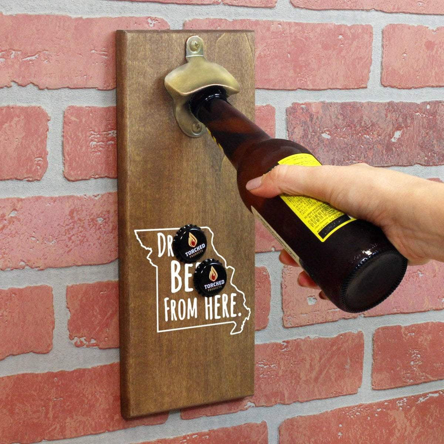 Torched Products Bottle Opener Default Title Missouri Drink Beer From Here Cap Catching Magnetic Bottle Opener