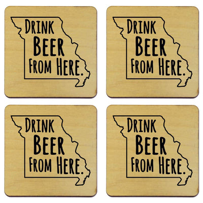 Torched Products Coasters Missouri Drink Beer From Here Coasters