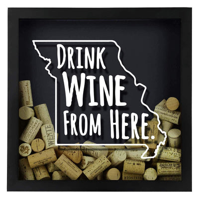 Torched Products Shadow Box Missouri Drink Wine From Here Wine Cork Shadow Box