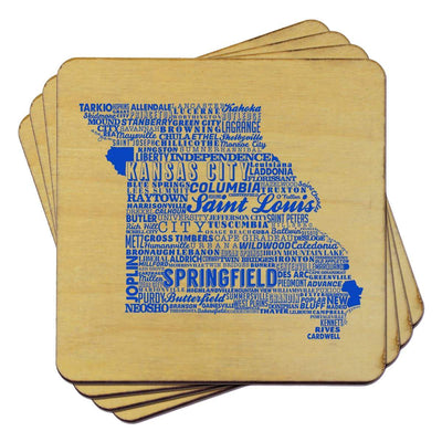Torched Products Coasters Missouri State Typography Coaster