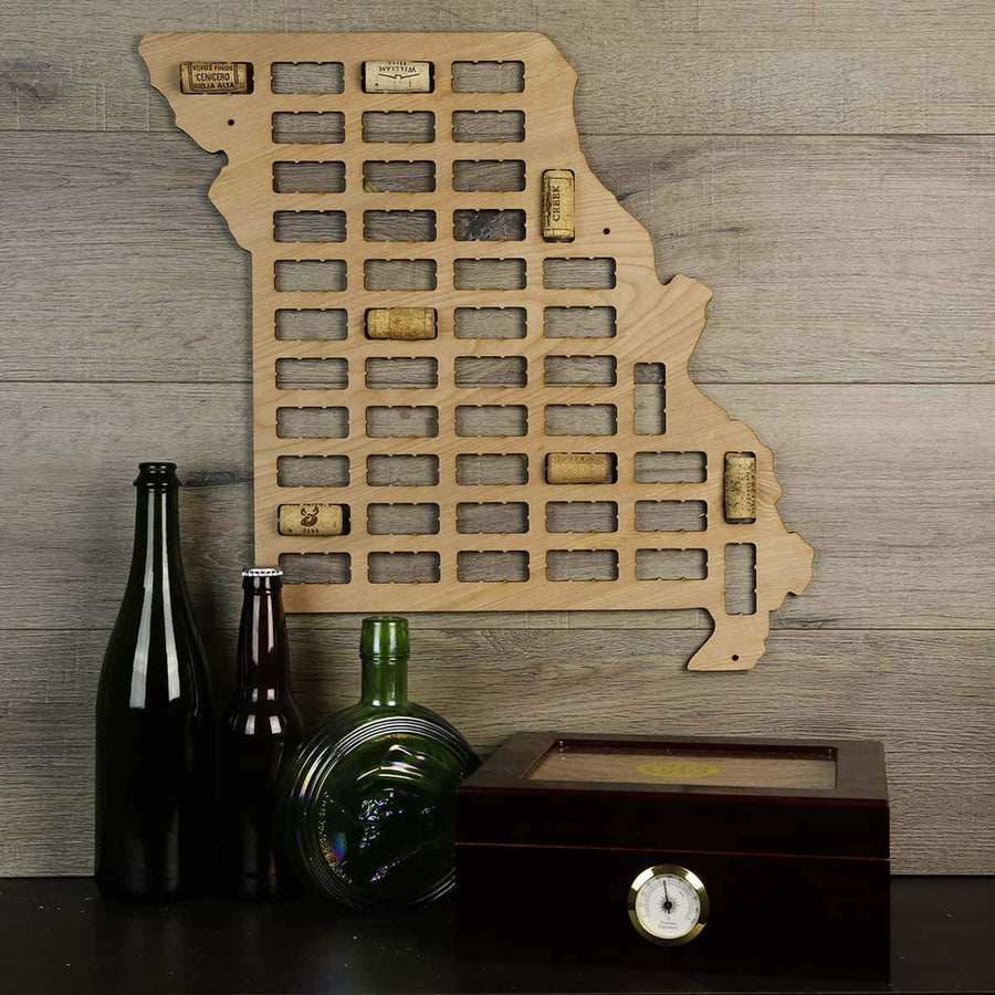 Torched Products Wine Cork Map Missouri Wine Cork Map (778975608949)