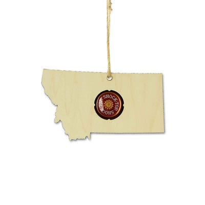 Torched Products Ornaments Montana Beer Cap Map Ornaments