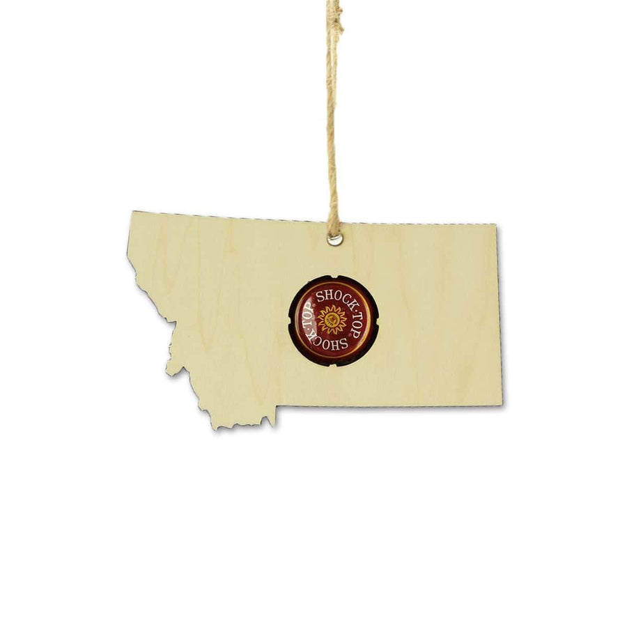Torched Products Beer Cap Maps Montana Beer Cap Map Ornaments