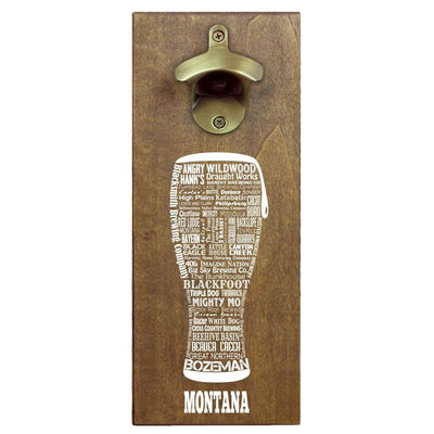 Torched Products Bottle Opener Default Title Montana Craft Beer Typography Cap Catching Magnetic Bottle Opener