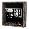 Torched Products Shadow Box Montana Drink Beer From Here Beer Cap Shadow Box (781179551861)