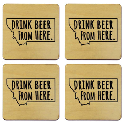 Torched Products Coasters Montana Drink Beer From Here Coasters