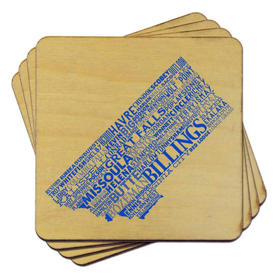 Torched Products Coasters Montana State Typography Coaster (787829129333)