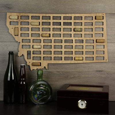 Montana Wine Cork Map WCT-MT