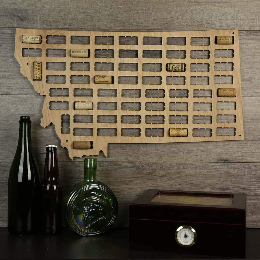 Torched Products Wine Cork Map Montana Wine Cork Map (778975936629)