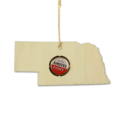 Torched Products Ornaments Nebraska Beer Cap Map Ornaments
