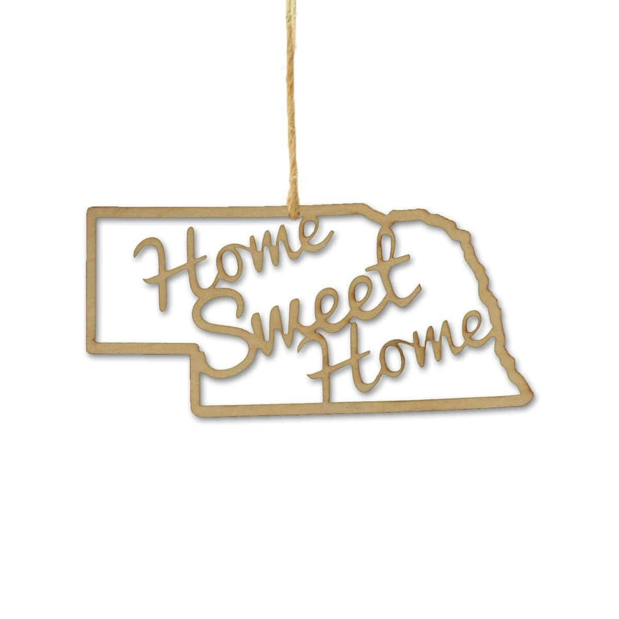 Torched Products Ornaments Nebraska Home Sweet Home Ornaments