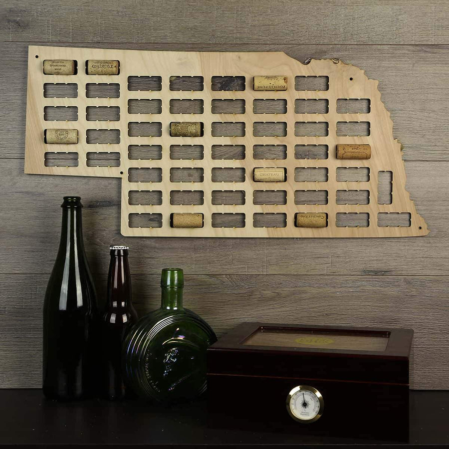 Torched Products Wine Cork Map Nebraska Wine Cork Map (778976821365)
