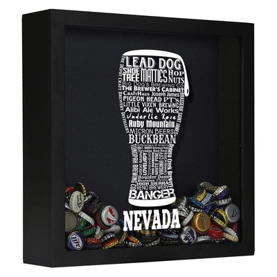 Torched Products Shadow Box Black Nevada Beer Typography Shadow Box