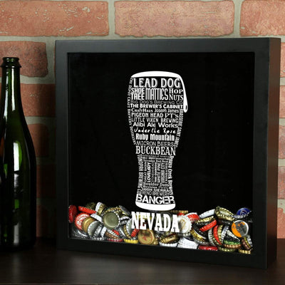 Torched Products Shadow Box Nevada Beer Typography Shadow Box