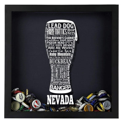 Torched Products Shadow Box Nevada Beer Typography Shadow Box (779381637237)