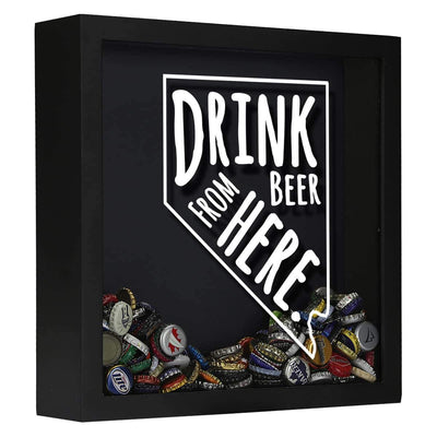 Torched Products Shadow Box Black Nevada Drink Beer From Here Beer Cap Shadow Box