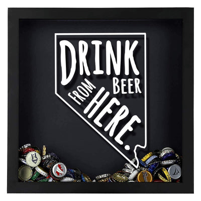 Torched Products Shadow Box Nevada Drink Beer From Here Beer Cap Shadow Box (781182369909)
