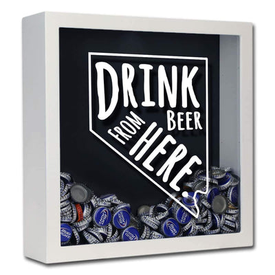Torched Products Shadow Box White Nevada Drink Beer From Here Beer Cap Shadow Box (781182369909)