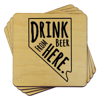 Torched Products Coasters Nevada Drink Beer From Here Coasters