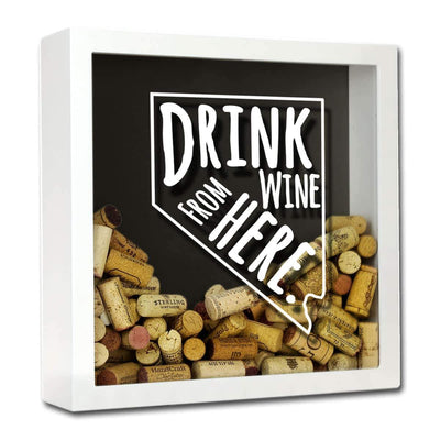 Torched Products Shadow Box White Nevada Drink Wine From Here Wine Cork Shadow Box