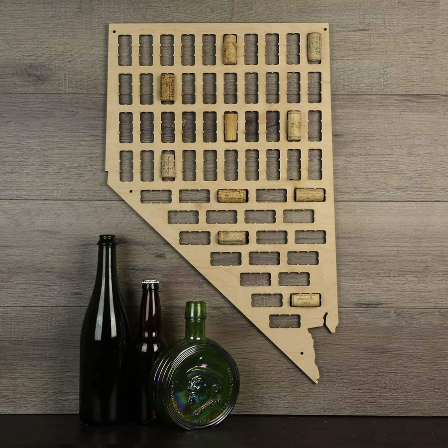 Torched Products Wine Cork Map Nevada Wine Cork Map (778977149045)